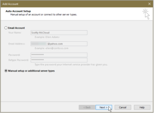 add yahoo mail to outlook