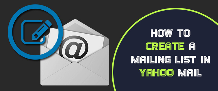 how to create  edit and delete mailing list in yahoo