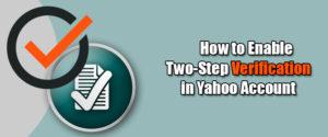 two step verification yahoo